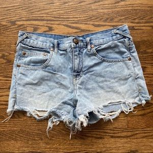 Free People distressed shorts!